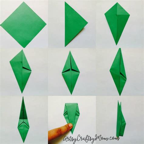 tulip origami for easy origami tulip craft for artsy craftsy