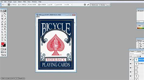 make custom cards hd tutorial how to make your own custom bicycle box