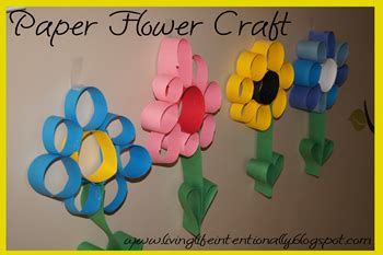 paper flower craft for preschoolers 123 homeschool 4 me april 2012