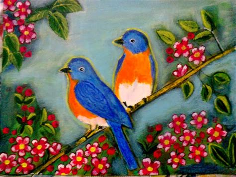 painting birds acrylic a writer s oasis birds an acrylic painting