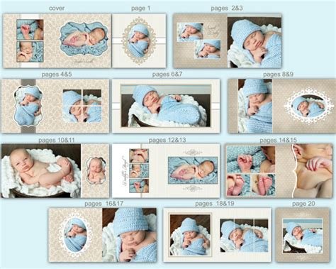 instant download 10x10 baby album template taylor 0350