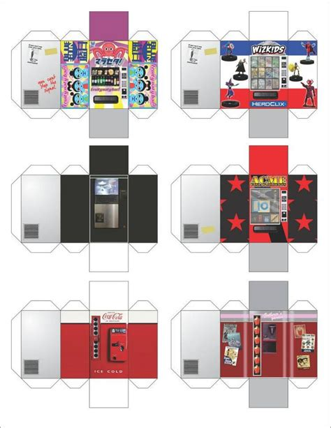 paper craft machine heroclix vending machine papercraft heroclix 3d maps