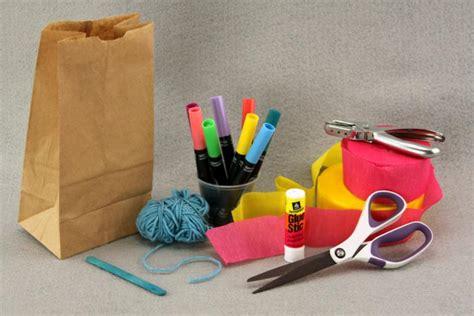 paper bag kite craft paper bag kites