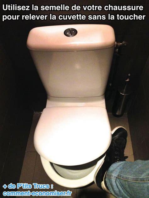 l astuce pour relever la cuvette des toilettes sans la toucher
