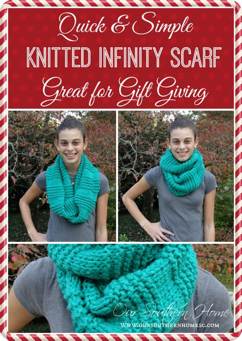 how to knit a scarf quickly easy knitted infinity scarf our southern home
