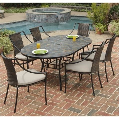 metal patio dining sets 7 metal patio dining set in black 5601 338