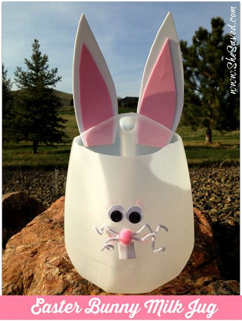 milk crafts for easter bunny milk jug craft shesaved 174