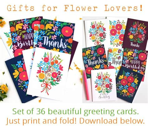 make my own greeting cards free printable paint watercolor flowers in 15 minutes