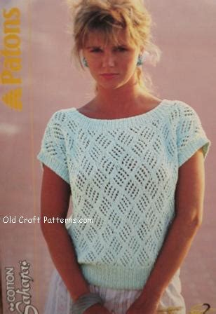 knitted cotton top patterns patons 484 cotton knitting patterns summer sweater