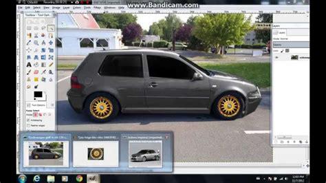 Car Photoshop Program by Tuning Car Golf 4 Make In Gimp
