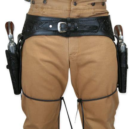 leather gun belt and holster 44 45 cal western gun belt and holster black tooled leather