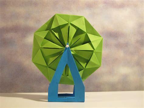 origami wheel my mini origami ferris wheel diy