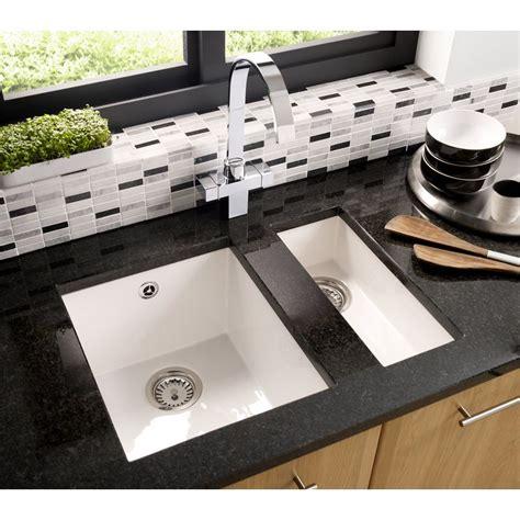 undermount kitchen sinks astracast onyx 1b inset undermount kitchen sink gloss white