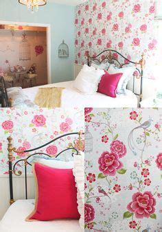 bedroom gorgeous wallpaper with birds birdcages