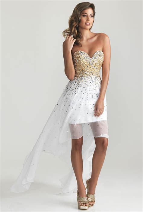 White Beaded Clifton Strapless Dress