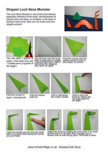 loch ness origami origami loch ness