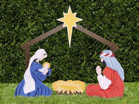outdoor holy family set the holy family outdoor nativity store