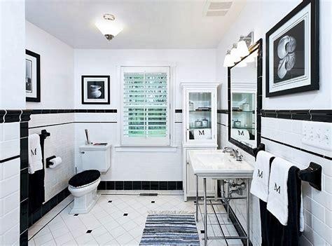 black white and bathroom decorating ideas black and white tile bathroom decorating ideas pictures