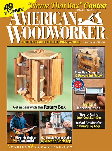 woodworking publications american woodworker magazine subscriptions renewals gifts