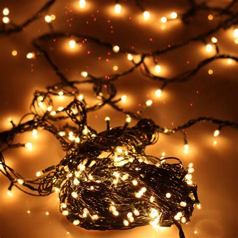 white light string thin lights string emitting white light