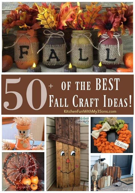 make home decor craft ideas 50 of the best diy fall craft ideas kitchen