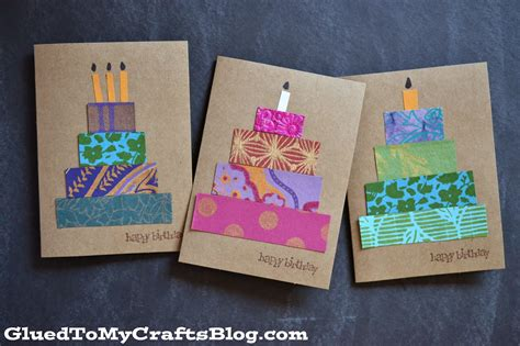 craft paper cards paper scrap birthday cards craft idea stickyu