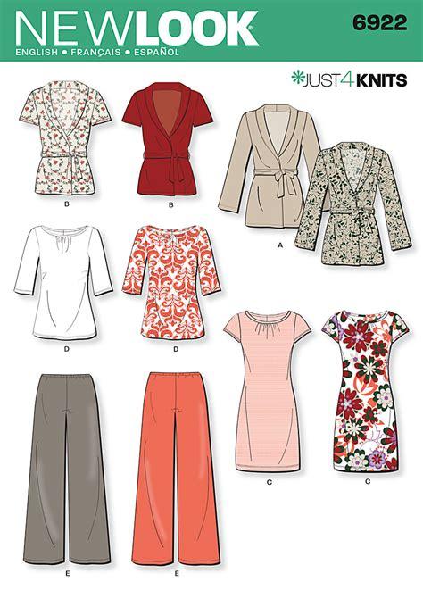 knit dress sewing pattern womens knit cardigan dress sewing pattern 6922 new look