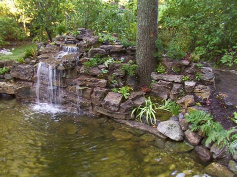 backyard pond ideas with waterfall backyard garden house design with ponds and
