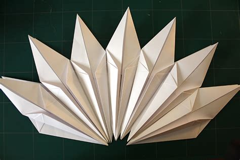 origami shape paper l shade a diy process that you probably shouldn