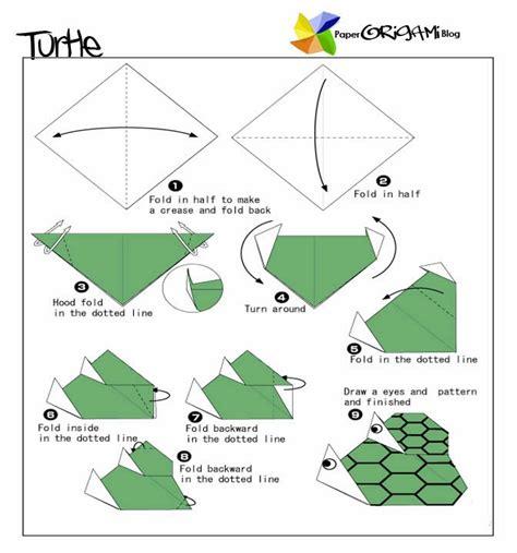 origami turtle diagram unique origami parent and child turtle paper origami guide