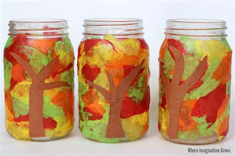 jar craft jar fall luminaries craft where imagination grows