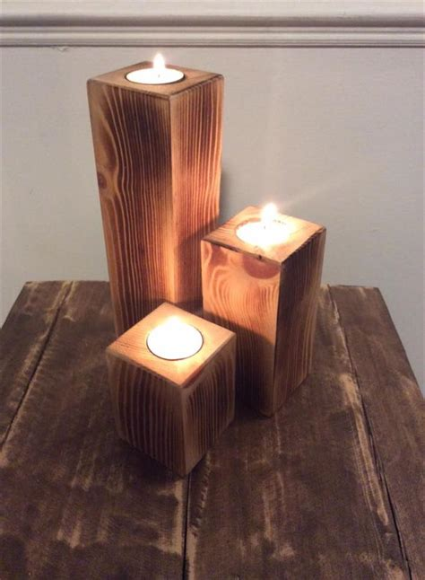 candle craft projects pallet candle holders easy to make pallet furniture diy