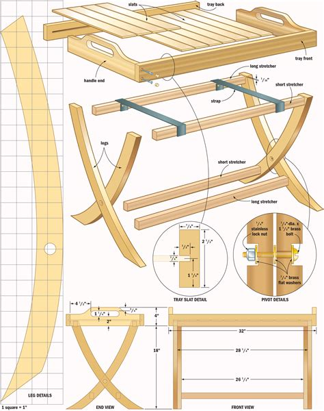 woodworking plans portable table tray woodworking plans woodshop plans