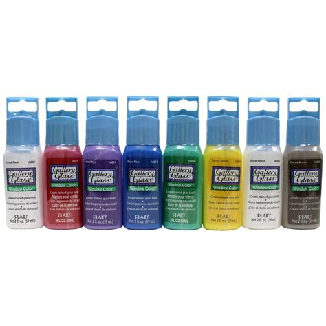 acrylic paint and glass gallery glass 2 oz window color acrylic paint set 8