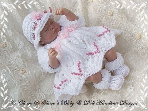free 12 inch doll knitting patterns babydoll handknit designs knitting pattern dress shrug