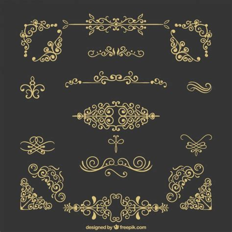 vintage ornaments vintage ornaments collection vector free