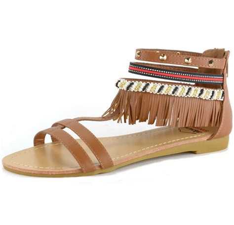 beaded gladiator sandals alpine swiss womens fringe sandals beaded studded