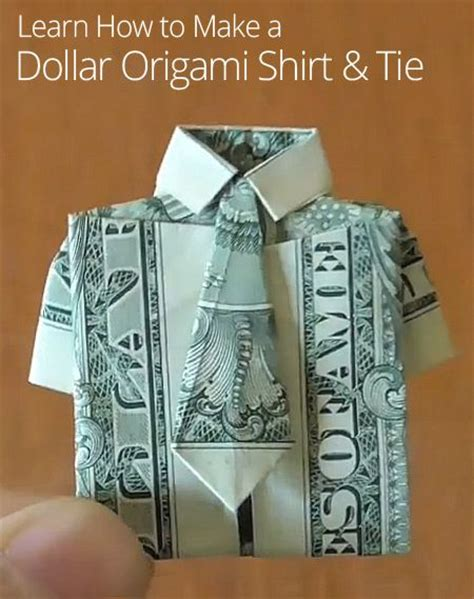 origami dollar bill shirt with tie origami shirts and dollar bills on