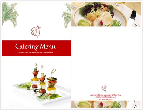 pin catering menu templates free on pinterest