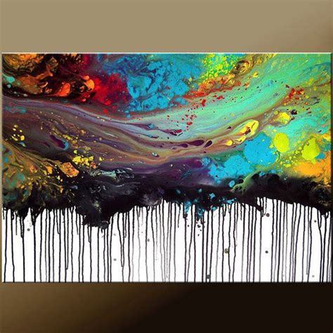 how to paint acrylic on canvas in abstract 2015 new arrival artwork painted high quality