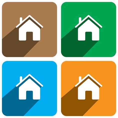 flat home design home icon flat design on behance