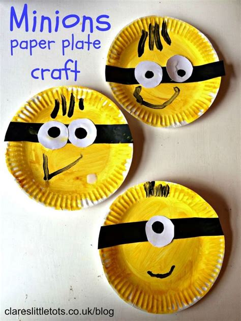 paper plate craft ideas for preschool 25 best ideas about minion craft on names of
