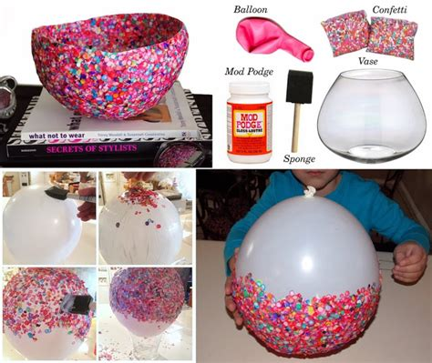 craft and home projects diy craft project confetti bowls find projects
