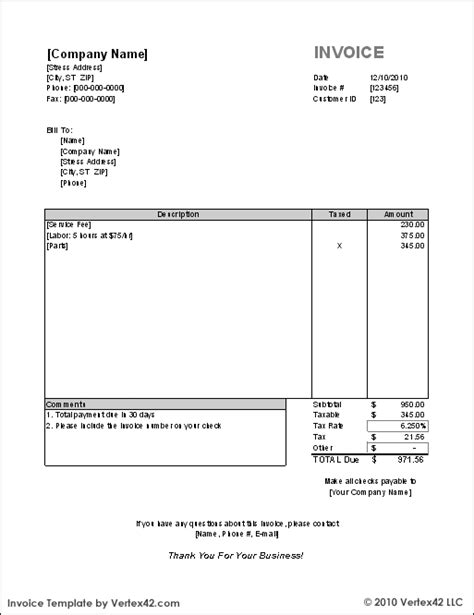 canada invoice template printable invoice template