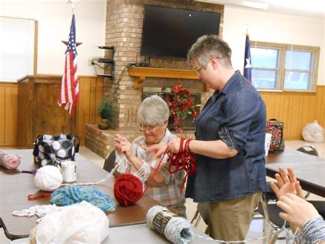 knitting classes arm knitting class deaf smith