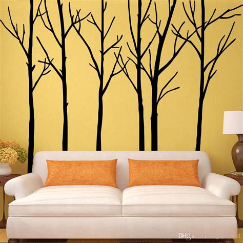 tree sticker wall decor wall decal inspiring tree wall decals for living room
