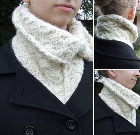 knit warmers chunky aplaca neckwarmer allfreeknitting