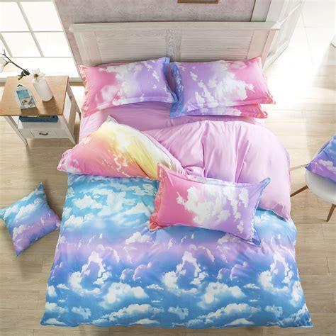 3d bedding set wholesale 3d bedding set summer colorful cloud designer
