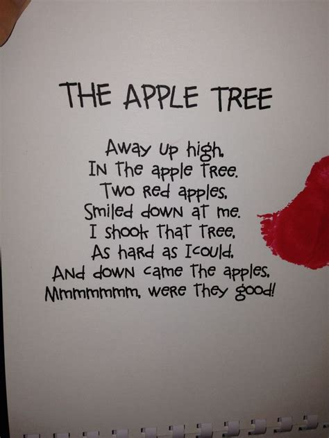 tree poems preschool apple poem poetry poem and apples