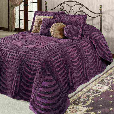 bed bedspreads purple chenille bedspread decor ideasdecor ideas